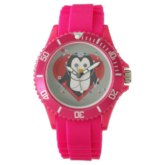 Penguin doctor with heart Zal28 Wrist Watch