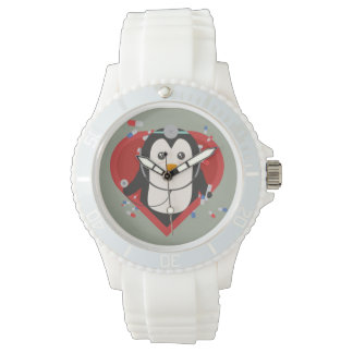 Penguin doctor with heart Zal28 Wrist Watches