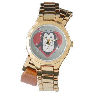 Penguin doctor with heart Zal28 Wristwatch