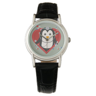 Penguin doctor with heart Zal28 Wristwatches