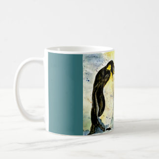 Penguin duo mug