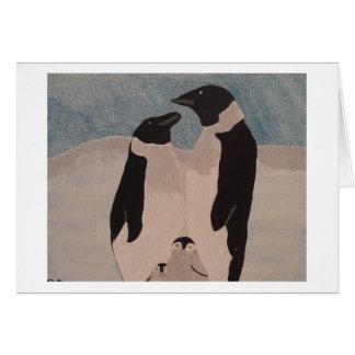 Penguin Family Card
