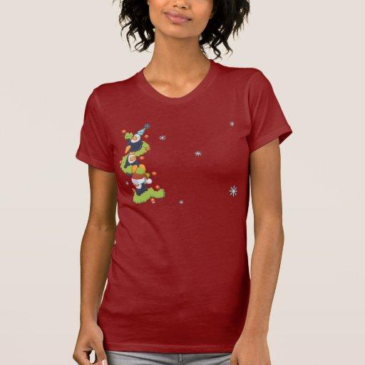 Penguin Family Christmas Tshirt