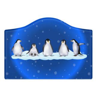 Penguin Family Door Sign