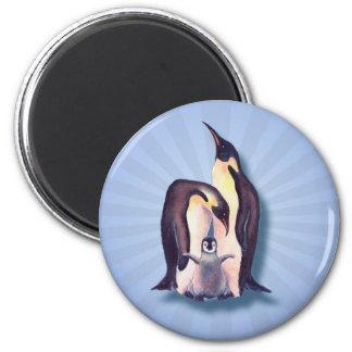 PENGUIN FAMILY & LIGHT RAYS by SHARON SHARPE Magnets