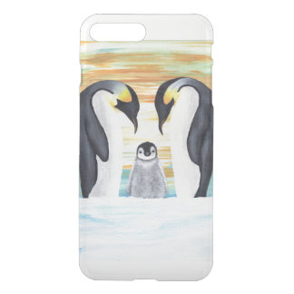Penguin Family with Baby Penguin iPhone 8 Plus/7 Plus Case