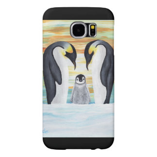 Penguin Family with Baby Penguin Samsung Galaxy S6 Cases