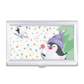 Penguin Folly Business Card Holder
