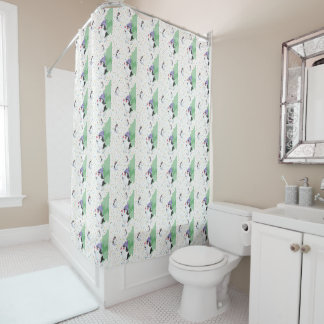 Penguin Folly Shower Curtain