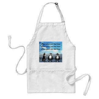 Penguin friends customizable apron