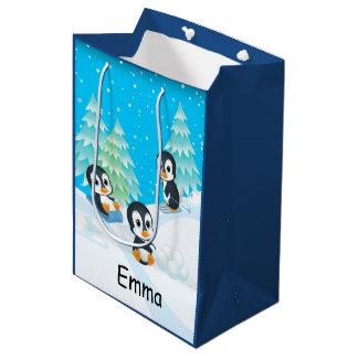 Penguin Fun Christmas Gift Bag