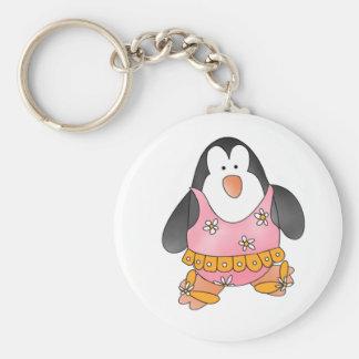 Penguin Girls Swim Keychain