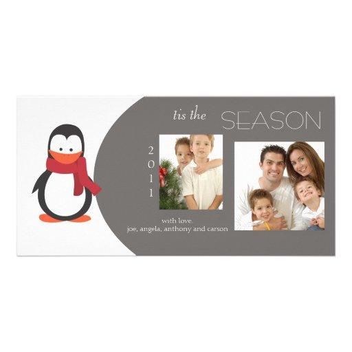 Penguin GrayHoliday Photo Card