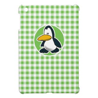 Penguin Green Gingham iPad Mini Cover