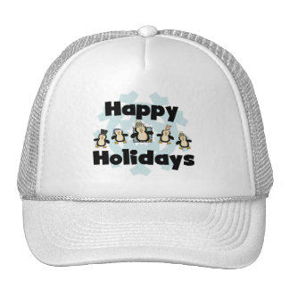 Penguin Happy Holidays Tshirts and Gifts Hats
