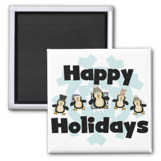 Penguin Happy Holidays Tshirts and Gifts Fridge Magnet