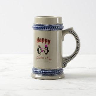 Penguin Happy Valentine s Day Coffee Mugs