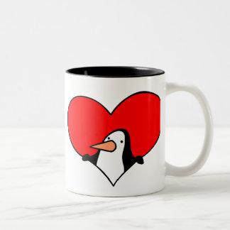 Penguin Heart mug