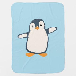 Penguin Hug Baby Illustration Baby Blanket