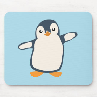 Penguin Hug Illustrated Mouse Pad