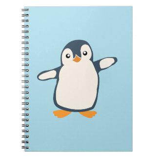 Penguin Hug Illustration Notebook