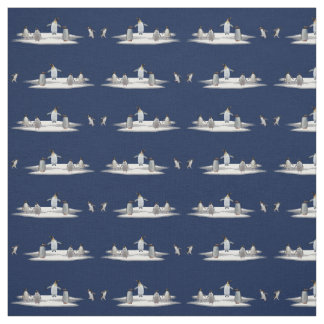 Penguin Iceberg Party Fabric (Navy)