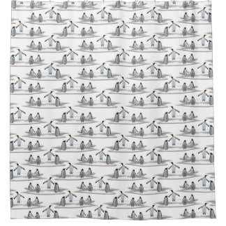 Penguin Iceberg Party Shower Curtain