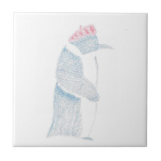 Penguin In A Beret Tile
