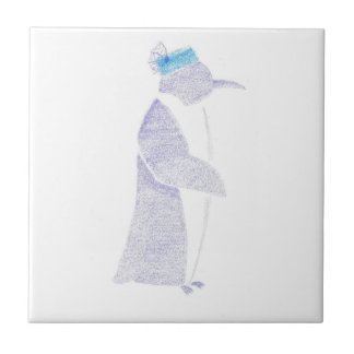Penguin In A Fancy Hat Tile