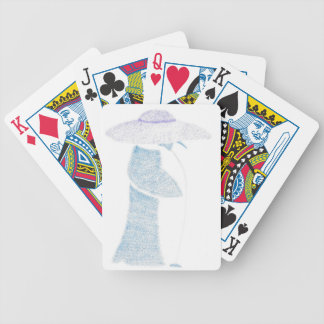 Penguin In A Floppy Hat Bicycle Playing Cards