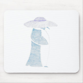 Penguin In A Floppy Hat Mouse Pad