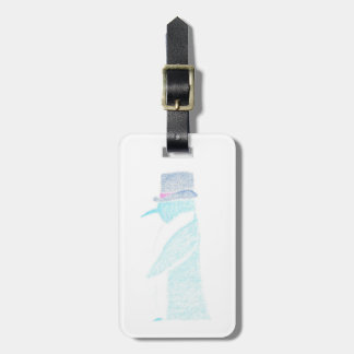 Penguin In A Top Hat Luggage Tag