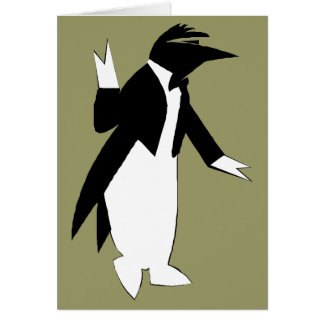 Penguin in a Tuxedo  - Cool As Ice Hipster Card