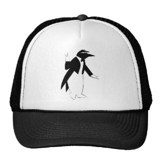 Penguin in a Tuxedo - Cool As Ice Hipster Trucker Hats