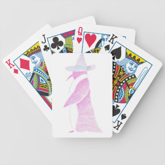 Penguin In A Witch's Hat Bicycle Playing Cards
