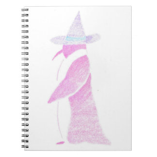 Penguin In A Witch's Hat Notebook