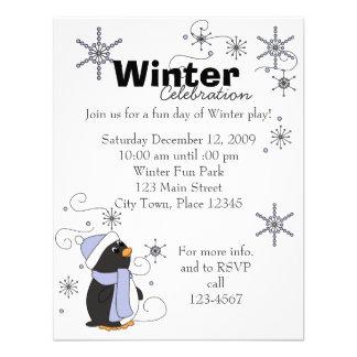 Penguin in Awe Custom Invitations