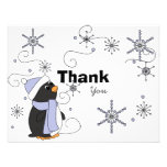 Penguin in Awe Thank You Note Custom Invitations