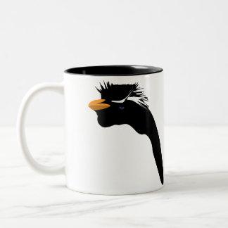 Penguin in Black Two-Tone Coffee Mug