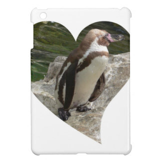 penguin in heart shape iPad mini covers
