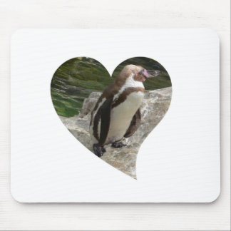 penguin in heart shape mousepads