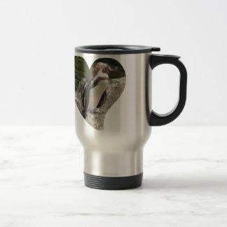 penguin in heart shape mugs