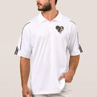 penguin in heart shape polo t-shirts