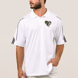 penguin in heart shape polo t-shirts