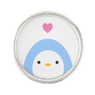 Penguin in Love Lapel Pin