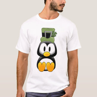 Penguin in St. Pattys T-Shirt