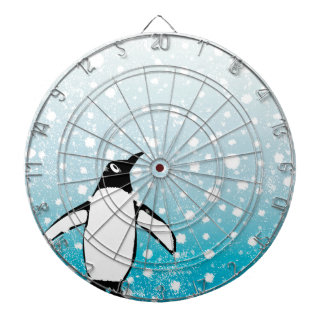 Penguin In The Snow Dartboard