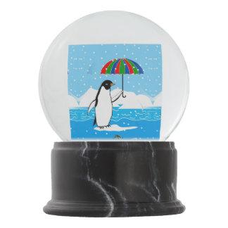 Penguin in the Snow Design in Snow Globe Snow Globes