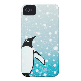 Penguin In The Snow iPhone 4 Case-Mate Cases