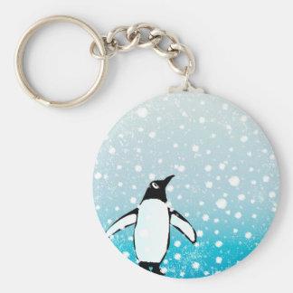 Penguin In The Snow Key Ring